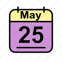 calendar, date, may, schedule icon, th icon