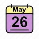 calendar, date, fr, may, schedule icon icon