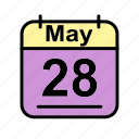 calendar, date, may, schedule icon, su icon