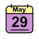 calendar, date, may, mo, schedule icon icon