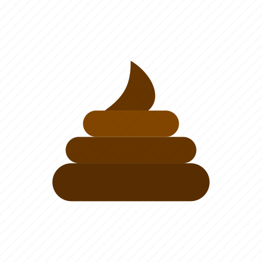 art, brown, circle, creative, defecating, dog, turd icon