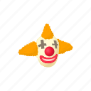 cartoon, circus, clown, costume, happy, hat, head icon