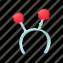 beautiful, cartoon, celebration, element, fun, head, headband icon
