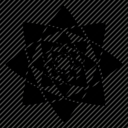 abstract, design, flower, mandala, portal, shape, star icon