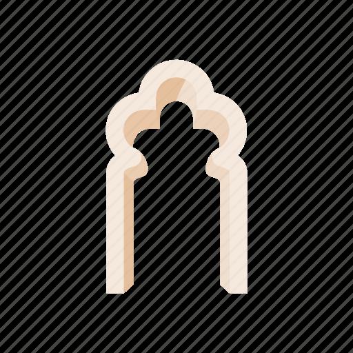arch, architecture, clover, frame, leaf, shape, trefoil icon