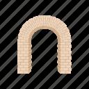 semicircular, frame, modern, shape, architecture, brick, arch