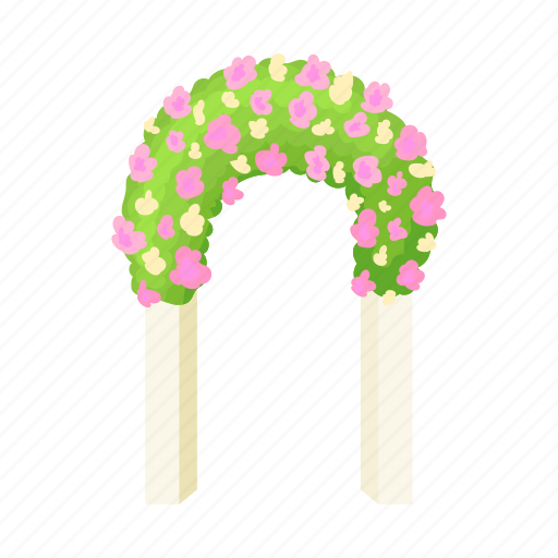 arch, celebration, decoration, floral, flower, marriage, wedding icon