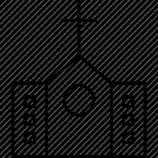 architecture, building, church, construct icon