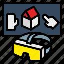 information, technology, virtual, visual, visualization icon