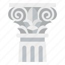 corinthian, antique, classic, column, ancient, architecture icon