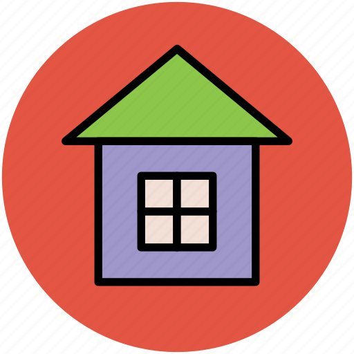 architecture, dwelling house, modern house, window icon