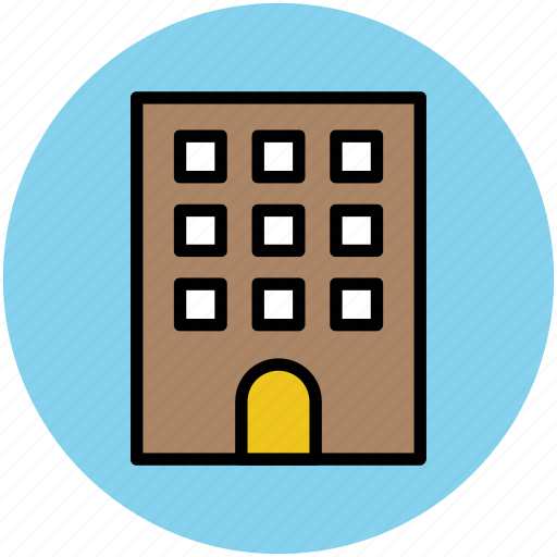 block of flats, building, city building, flats, modern, modern flats icon