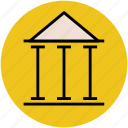 bank, building, building columns, bureau, finance, office, pantheon, rome icon