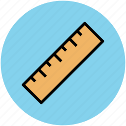 architectural instrument, geometrical tool, measuring, measuring tool, ruler, scale icon