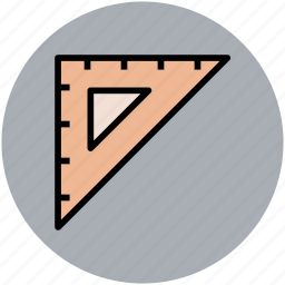 drafting tool, engineering equipment, geometry, mathematical tool, ruler instrument, school equipment icon