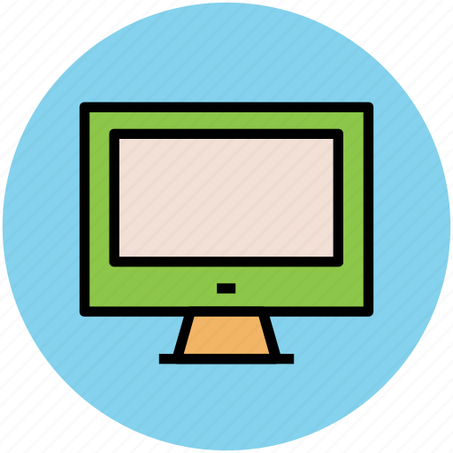 computer monitor, flat screen, lcd, led, modern tv, monitor, tv, widescreen icon
