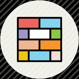 blocks, bricks, building structure, construction, under construction, wall icon