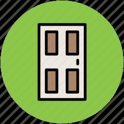 door, doorway, entrance, house door, interior, room door icon