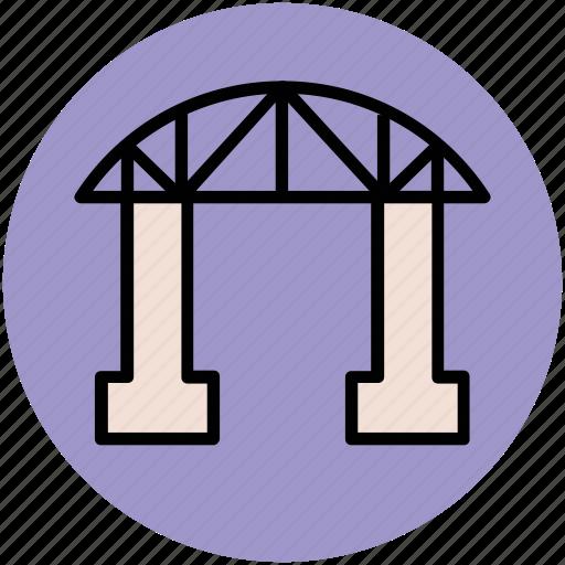 bridge, motorway, passage, railway, travel icon
