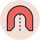 passageway, subway tunnel, tunnel, underpass, underpass tunnel icon