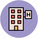 building, hotel, inn, motel, public house, tavern icon