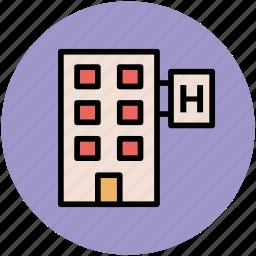 building, hotel, inn, motel, public house, tavern icon