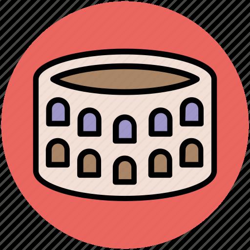 colosseum, landmark, monument, roman colosseum, temple, temple of peace icon