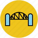 bridge, motorway, passage, railway, travel icon