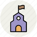 cannery, historical, landmark, museum, showplace icon