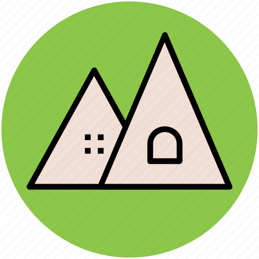 adventure, camp house, canopy, tourist tent, travel icon