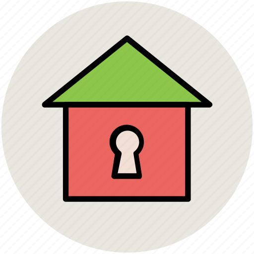 estate, house, house protection, infographic element, keyhole, locked, real icon