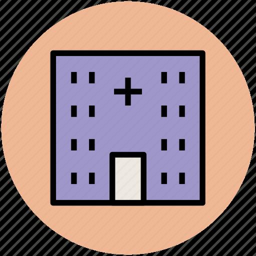 dispensary, hospital, medical center, medical clinic, nursing home, sick bay icon