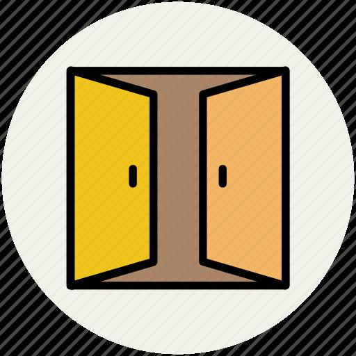 car garage, entrance, garage door, home garage, house garage, open garage icon