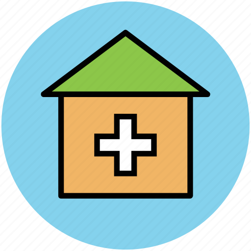 dispensary, hospital, medical center, medical clinic, nursing home, sick bay icon