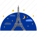 building, culture, eiffel, france, paris, tower icon