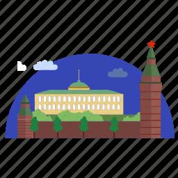 architecture, building, culture, kremlin icon