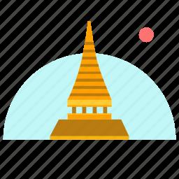 building, culture, house, laos icon