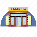 architecture, building, culture, pizza, pizzeria, restorant icon