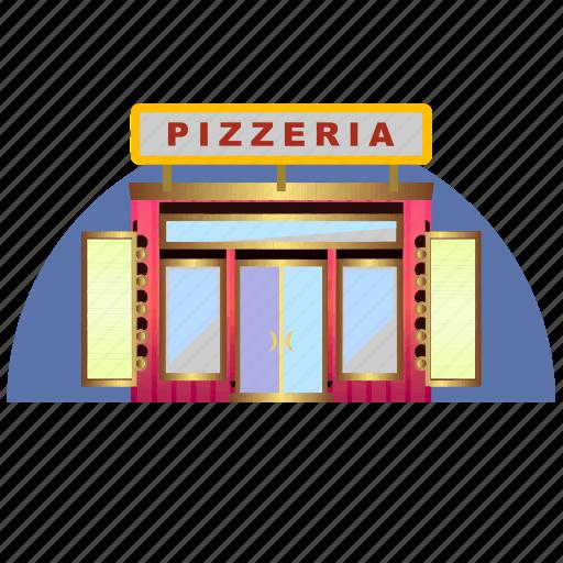 architecture, building, culture, pizza, pizzeria, restorant icon