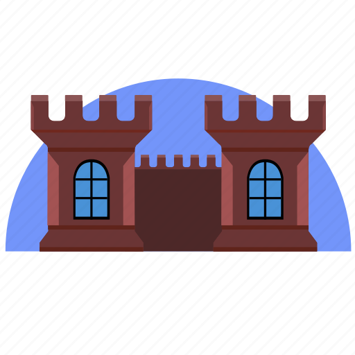 architecture, building, castle, old, tower icon