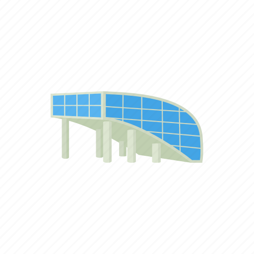 architecture, building, business, cartoon, construction, glass, modern icon