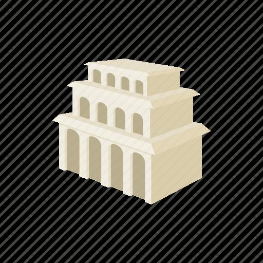 arch, architecture, building, cartoon, facade, house, window icon
