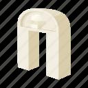 arch, architecture, building, cartoon, classic, column, roman