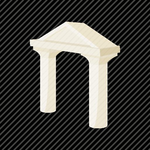 architecture, building, cartoon, classic, column, construction, roman icon