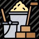 construction, materials, building, cement, brick