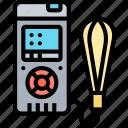 distance, meter, digital, measurement, device