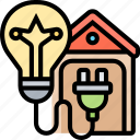 electrical, system, lighting, lamp, house