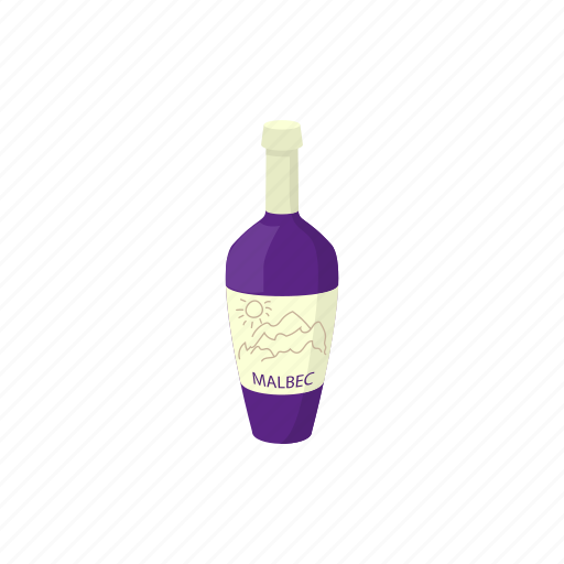 alcohol, argentina, bottle, cartoon, drink, grape, wine icon