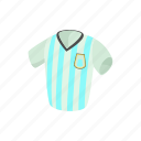 argentina, cartoon, football, shirt, soccer, sport, uniform icon