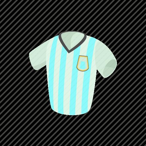 argentina, cartoon, football, shirt, soccer, sport, uniform icon